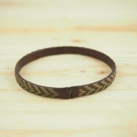 Bracelet fibre naturelle FUMAREL 5B éthique fait main vert