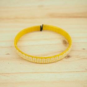Bracelet fibre naturelle FUMAREL 5D éthique fait main jaune