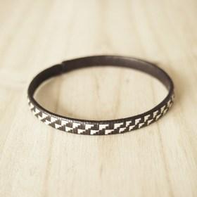 Bracelet fibre naturelle FUMAREL noir fait main 5G