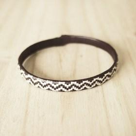 Bracelet fibre naturelle FUMAREL noir fait main 5H