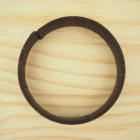 Bracelet fibre naturelle FUMAREL noir fait main 5D