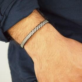 Bracelet fibre naturelle FUMAREL 5 éthique fait main