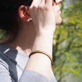 Bracelet fibre naturelle FUMAREL moutarde éthique fait main 5E