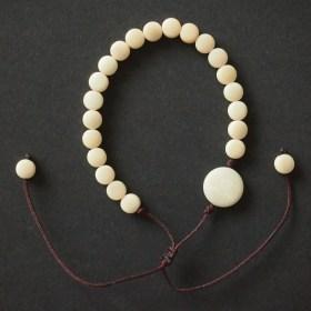Bracelet ivoire végétal MILANO blanc fait main éthique