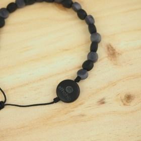 Bracelet ivoire végétal MILANO noir fait main éthique