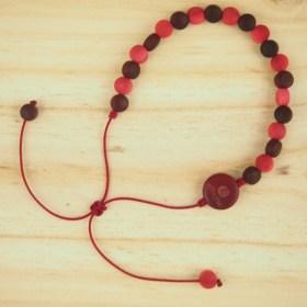 Bracelet ivoire végétal MILANO rouges  fait main éthique