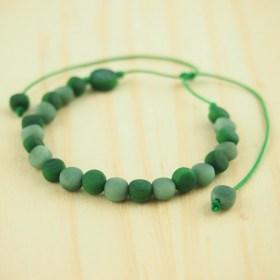 Bracelet ivoire végétal MILANO vert fait main éthique