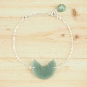 Bracelet en ivoire végétal et argent 925 - Rubi Pac Vert clair fait main