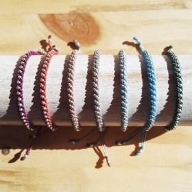 Bracelet macramé et argent 925 Inca A fait main