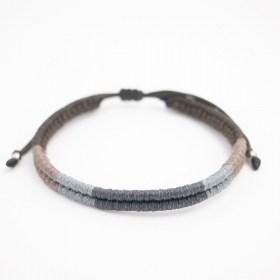 Bracelet mixte Compas fait-main | Gris - Noir