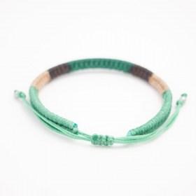 Bracelet mixte Compas fait-main | Vert - Beige - Marron