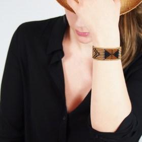 Bracelet perles OKAMITA Miel ethique fait main