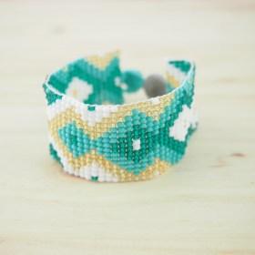 Bracelet perles OKAMITA TURQUOISE ethique fait main