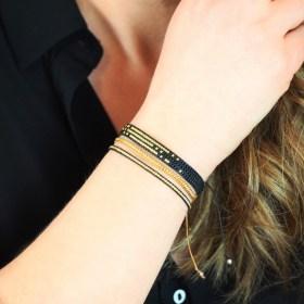 Bracelets fins miyuki faits-main échelle