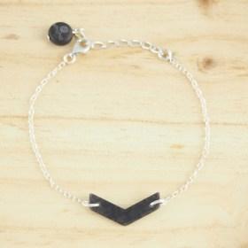 Bracelet en ivoire végétal Rubi Fle fait main | Gris - Argent 925