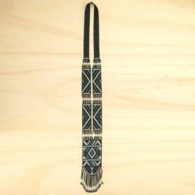 Collier perles Quetzal Los fait main | Noir- Argent