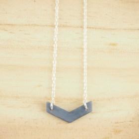 Collier en ivoire végétal Rubi Fle fait main| Bleu clair - Argent 925