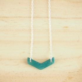 Collier en ivoire végétal Rubi Fle fait main| Turquoise - Argent 925