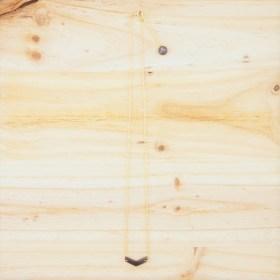 Collier en ivoire végétal et plaqué or - Rubi Fle gris fait main