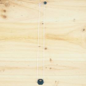Collier en ivoire végétal Rubi Hex fait main| Bleu - Argent 925