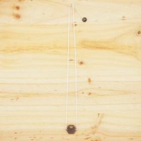 Collier en ivoire végétal et argent 925 - Rubi Hex gris fait main