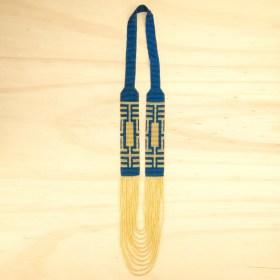 Collier perles Arpia Labyrinthe fait main | Bleu - Doré