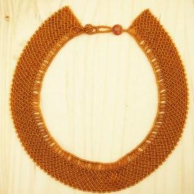 Collier perles Okama Uni fait main | Miel