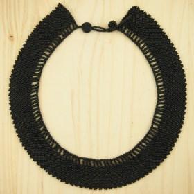 Collier perles OKAMA Noir UNI fait main