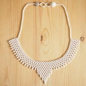 Collier perles OKAMITA Blanc fait main éthique