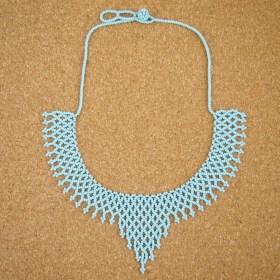 Collier perles OKAMITA Bleu fait main