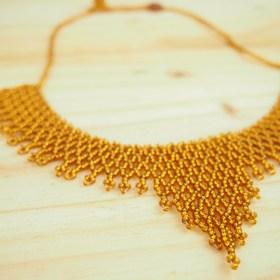 Collier perles Okamita miel fait main