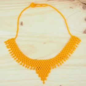 Collier perles Okamita Jaune