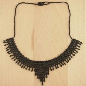 Collier perles okamita noir fait main