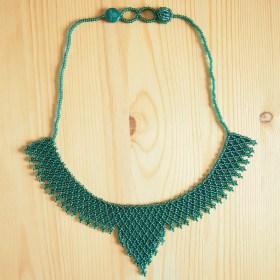 Collier perles OKAMITA Turquoise transparent