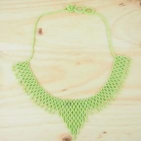 Collier perles OKAMITA Vert pomme fait main