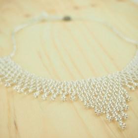 Collier perles Okamita fait main | Argent brillant