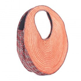 Sac à main fibre caña flecha Cotara terracotta fait main